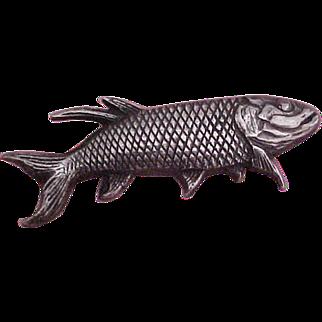 Unique Carl Ruopoli Sterling Silver Fish Pin