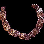 Symmetalic 1940's 14K and Sterling Silver Bracelet