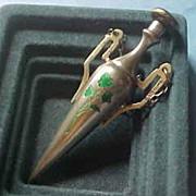 Sterling Silver & Enamel Chatelaine Scent Perfume Bottle