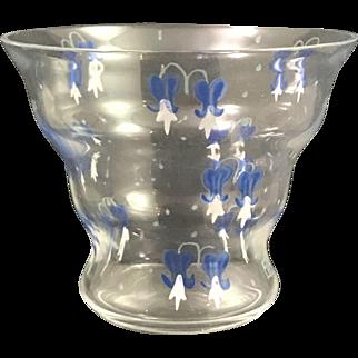 Ida Paulin, Augsburg, hand enameled cabinet glass vase, ca. 1920s
