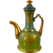 Early Loetz Victorian Era Enameled Glass Ewer, ca. 1890