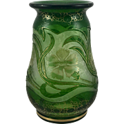 Harrach Art Nouveau Cameo/Acid Cut Back vase, ca. 1900