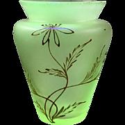 Loetz Arcadia enameled DEK Iridescent Bohemian Art Nouveau glass vase, PN II-615, ca. 1900