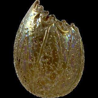 Pallme-Koenig Egg-shaped vase, iridescent frit decoration, ca. 1900