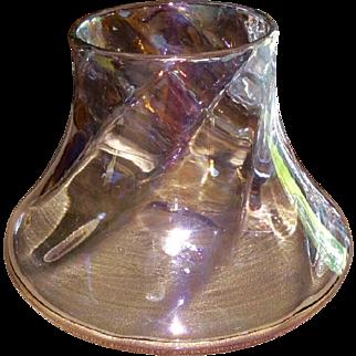 "Marie Kirschner Loetz ""kristall schief gewalzt hell Iris"" vase, PN 1090/193, ca. 1905-1908"