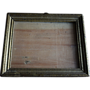 19th Century small lemon gold frame with great patina!