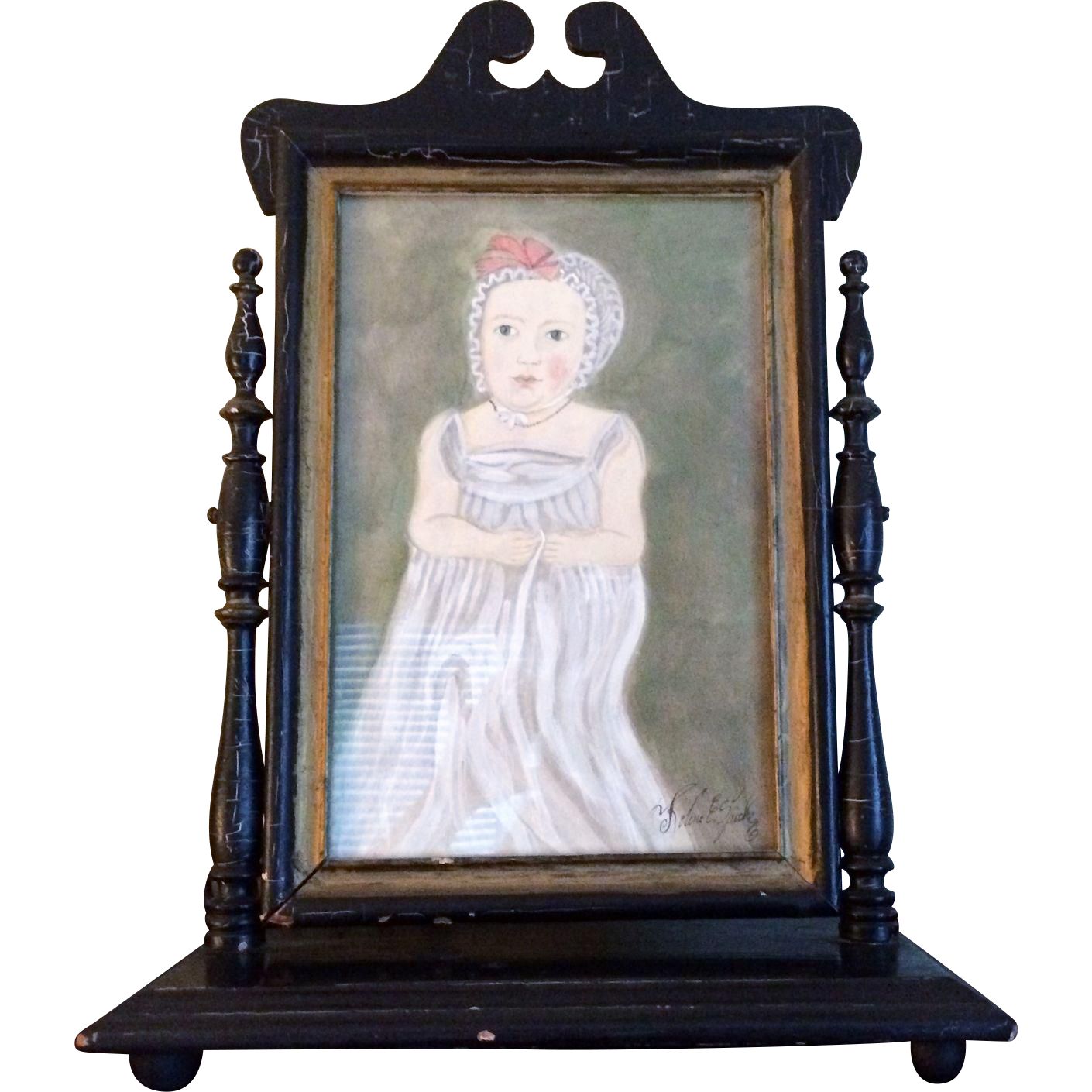 Original Kolene E. Spicher Watercolor in Period Frame