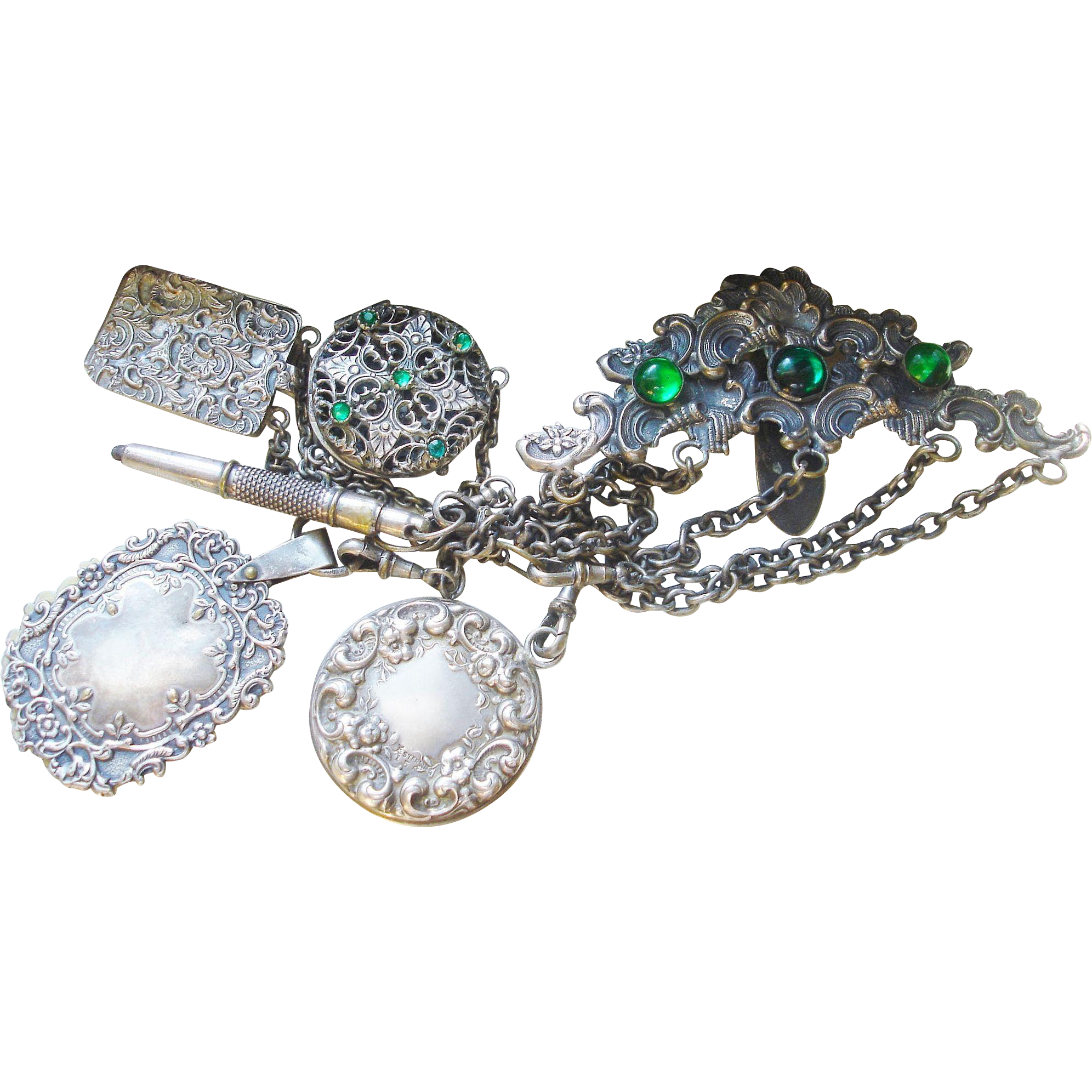 Victorian Chatelaine with Five Attachments