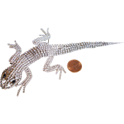 Butler & Wilson Articulated Lizard Crystal Brooch, circa 1980's
