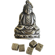 A Very Rare Silver Buddha Secret Compartment Charm Pendant
