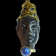 Exquisite Blackamoor Charm Pendant, 18k Gold, Italy circa. 1930-40's