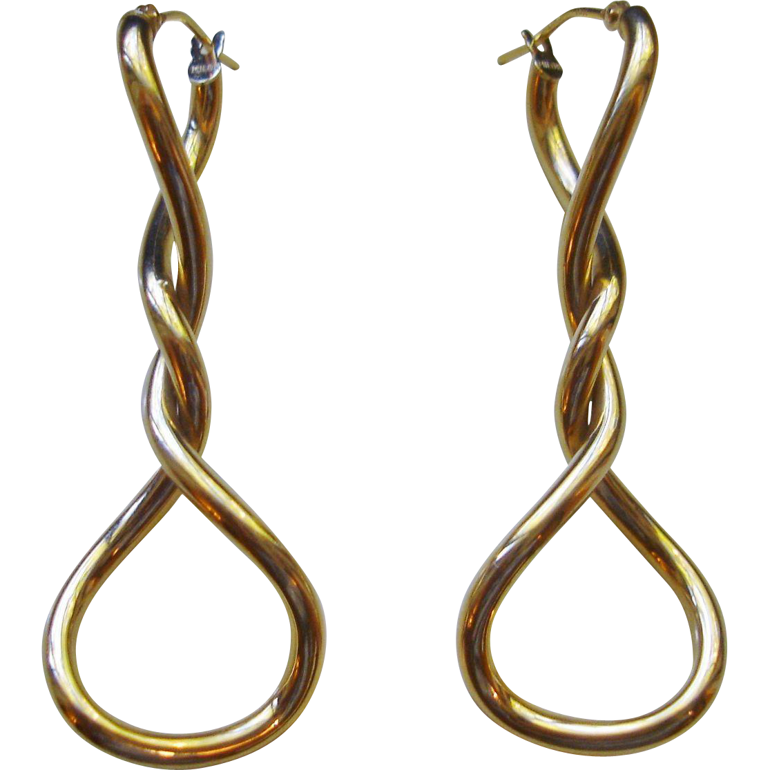 Milor, Italy 14k Gold Twist Earrings