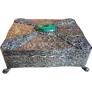 Gorgeous Sterling Silver Box Ugo Bellini, Italy circa 1940's, 515 grams!