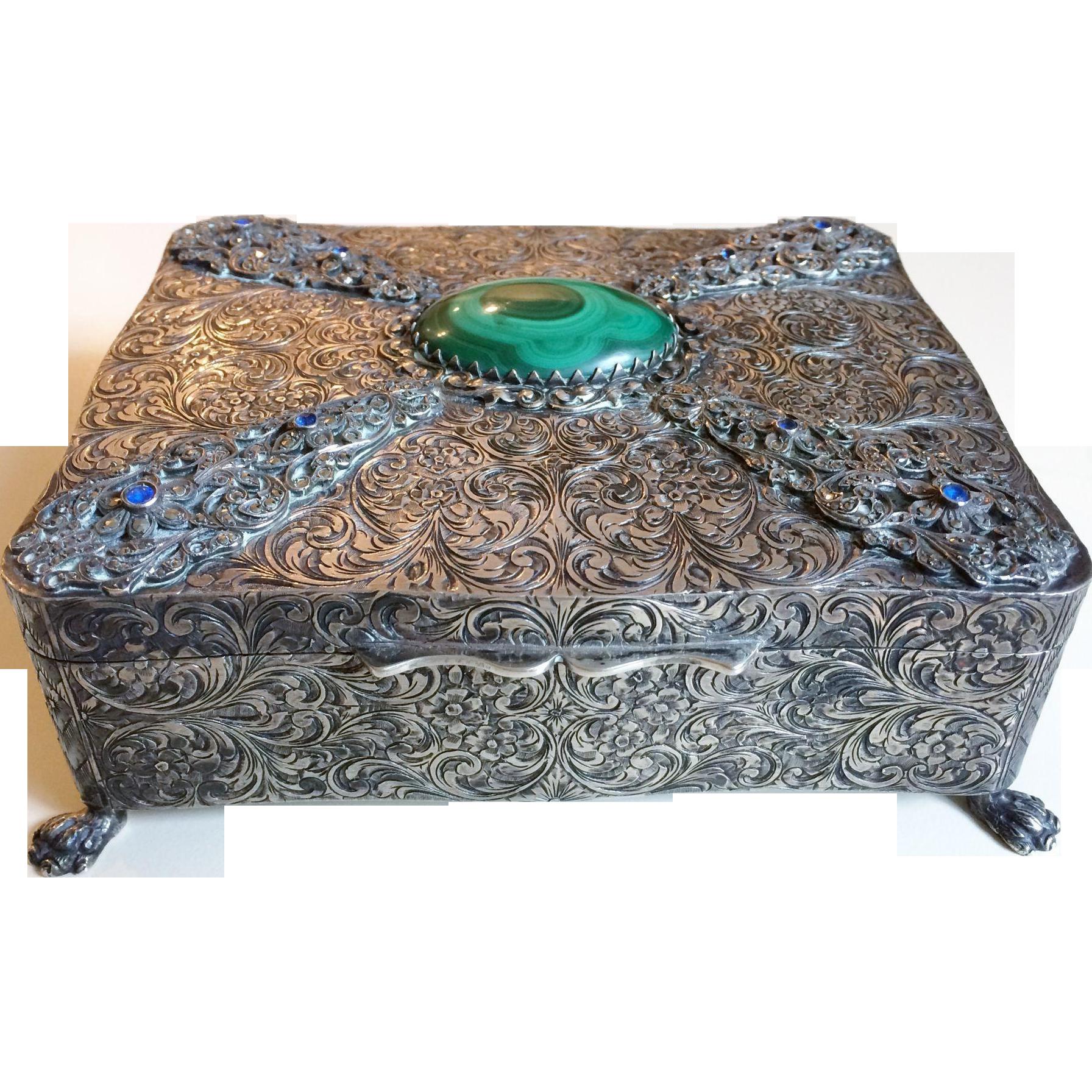 Gorgeous Sterling Silver Box Ugo Bellini, Italy circa 1940's, 515 grams!