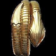 Vintage Double Coiled Snake Bracelet