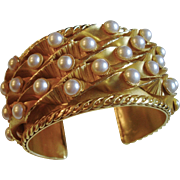 Stunning Dominique Aurientis, Paris Large Cuff Bracelet, circa 1980's
