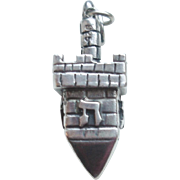 Hanukkah Dreidel Charm Pendant in Sterling Silver
