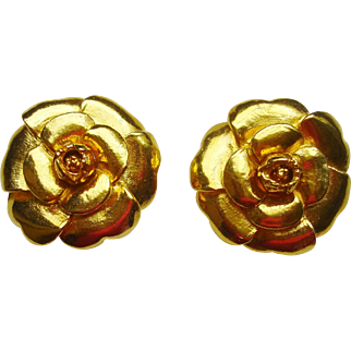 Pair of Vintage Chanel Camellia Brooches/Pin (will split the pair)