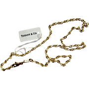 Gorgeous Tiffany & Co. 18k Gold Link Chain