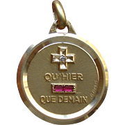 Qu' Hier Que Demain French Love Token Charm by A. Augis, 18K Gold