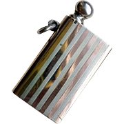 Unusual Fob Lighter Sterling Silver Mixed Metal