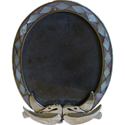 Romantic Los Castillo Silver Mother of Pearl Picture Frame