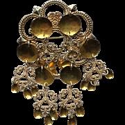 Norway Solje Ornate Wedding Brooch 830 Silver Gilt