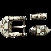Zuni Ranger 3 piece Belt Buckle, Stanford & Diane Cooche