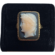 Beautiful Victorian 14k Gold Cameo Ring