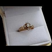 Victorian 14k Gold Diamond Engagement Ring