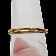 Vintage 14k Gold Orange Blossom Wedding Band Stacking Ring