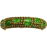 CARTIER 18k Yellow Gold Enamel Band Ring, c. 1970's