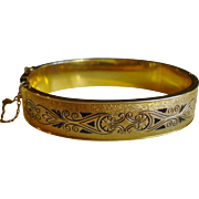 Beautiful Dunn Bros. Vintage Gold Filled Bangle Bracelet