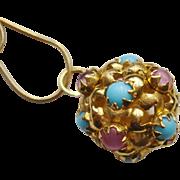 Beautiful 18K Gold Italian Charm Fob, circa 1960's