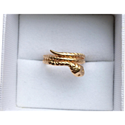 Victorian 18k Gold Snake Ring