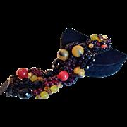 Stunning One of A Kind Runway Jet Bracelet