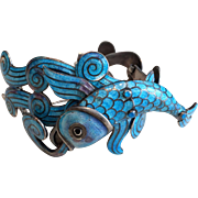 "Margot de Taxco Swimming/Spouting Fish Bracelet, ""As-Is"""