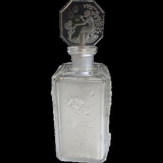 Beautiful Art Deco Heinrich Hoffman Cupid Perfume Bottle