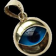 14k Gold Evil Eye Charm/Pendant