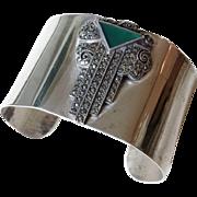 Art Deco Sterling Silver Cuff Bracelet