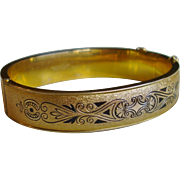 Dunn Brothers Vintage Gold Filled Bangle Bracelet