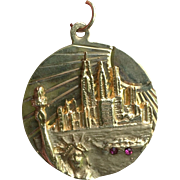 Spectacular 14k Gold New York City Skyline Pendant/Charm