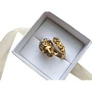 Estate 18k Gold Classic Lion Head Bypass Ring