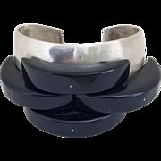 Rare Modernist Sterling Silver Bracelet/Cuff by Tess Shalon