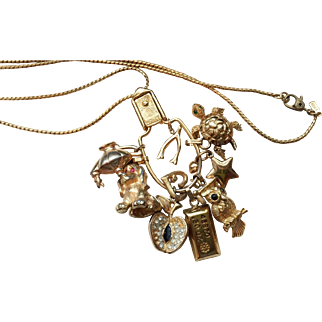 Vintage Charm Holder Necklace by Monet, circa 1960-70's