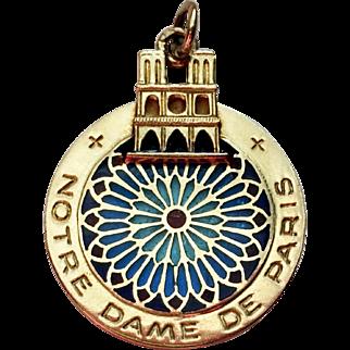 """Iconic 18k """"Notre Dame de Paris Charm/Pendant"""