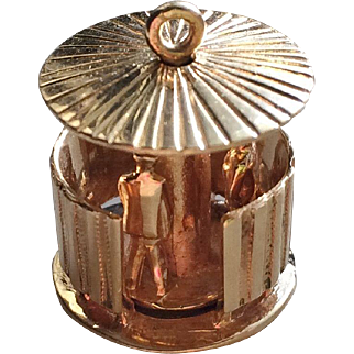 "Vintage 14k Gold Mechanical French ""Pissoir"" Charm"