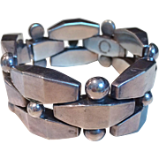 Early Mexican Silver Bracelet, circa 1930-40's