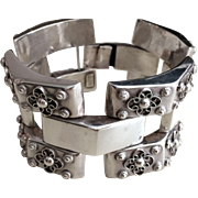 Early Mexican Silver Link Bracelet, circa 1930-40's