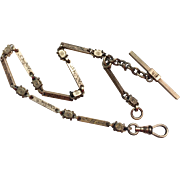 Fancy Victorian Rose Gold Filled Watch Chain